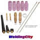 15-pcs 1/16-3/32 Collet-Collet Body-Cup-Tungsten (Red) for Regular Setup in TIG Welding Torch 17/18/26
