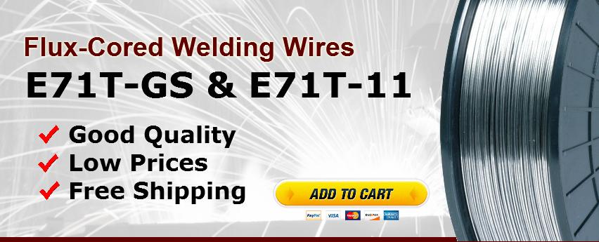 FCAW Flux Core Arc Welding Wire Supply: E71T-GS & E71T-11