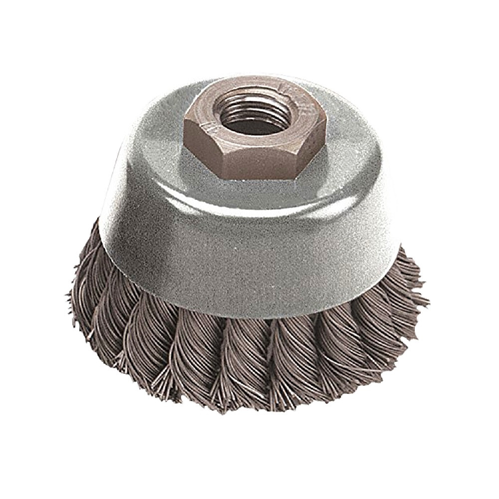Pearl Abrasive Power Wire Brush CLWBK458T Knot Wheel 4 x .020 x 5//8-11 Regular Twist with Tempered Wire